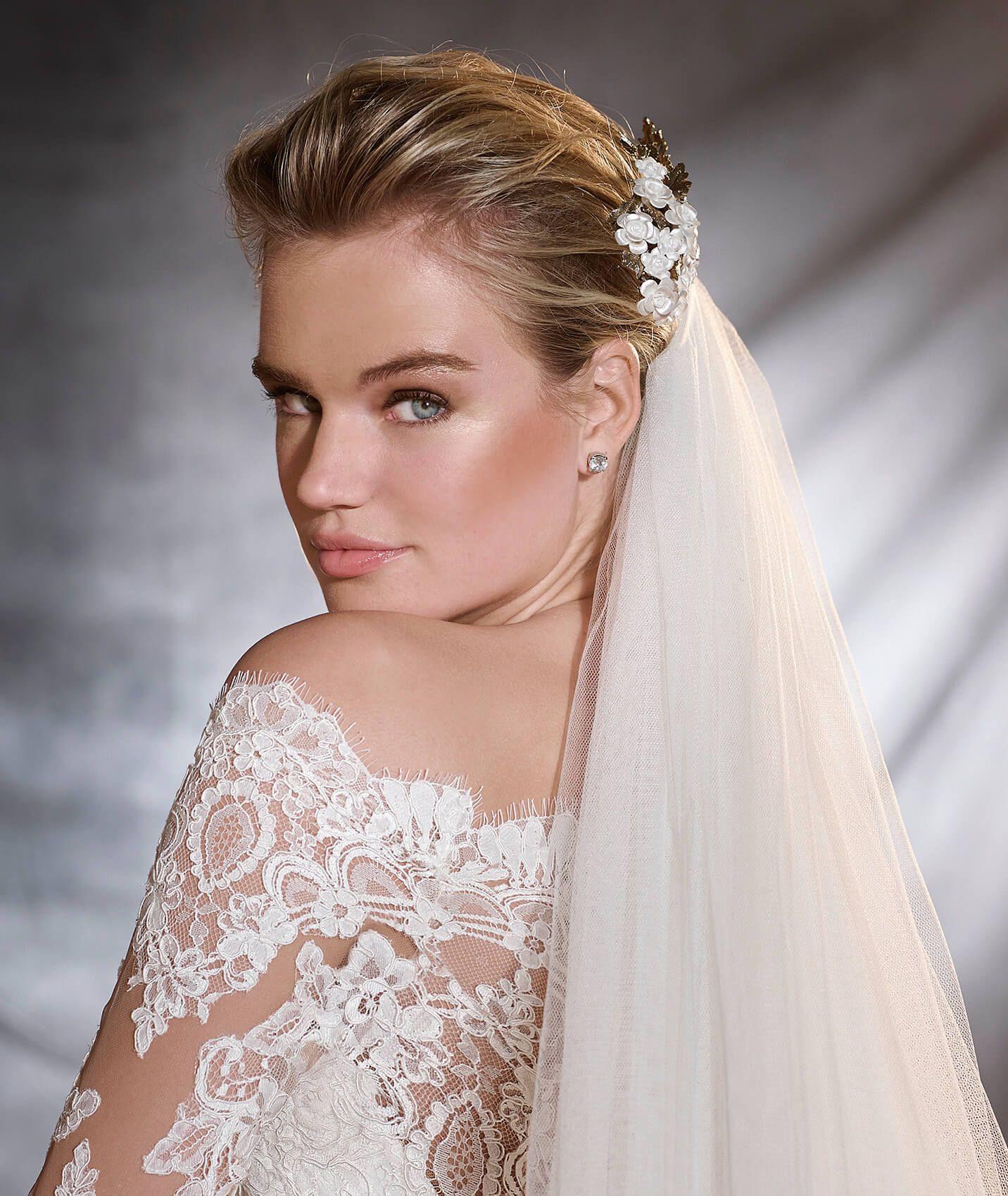 ORSA - Vestido de noiva em gaza, tule e renda   Pronovias