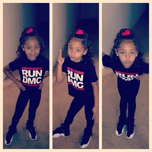 little girl with swag