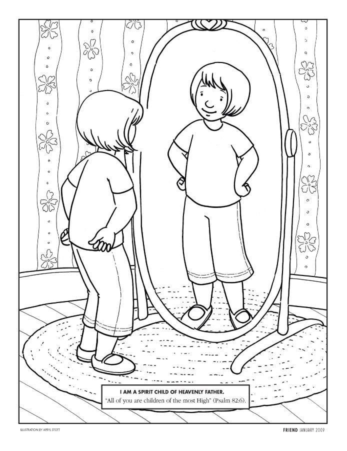 happy clean living primary 3 lesson 2 - Coloring Pages Primary Lessons