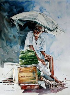 After The Rain C C C Watercolour Paintings By Rajkumar Sthabathy