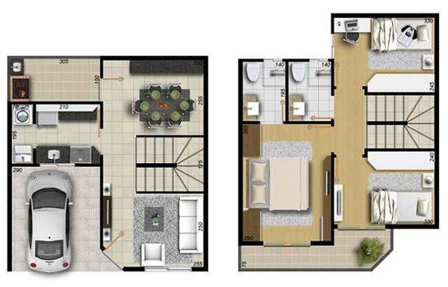 Plano de casa de 99 m2 planos casas peque as planos for Casa moderna 99 arena