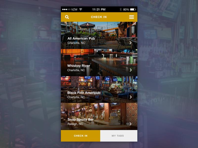 Bar Tab App Concept by Ed Mendoza