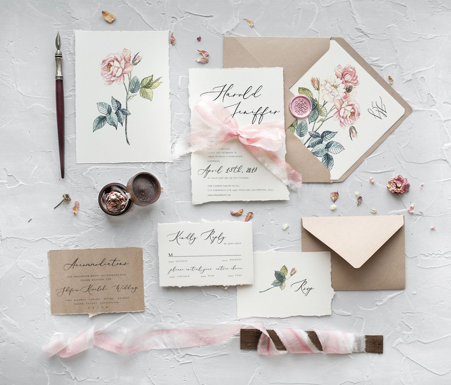 Newest 35 Vintage Botanical Wedding Inviations From