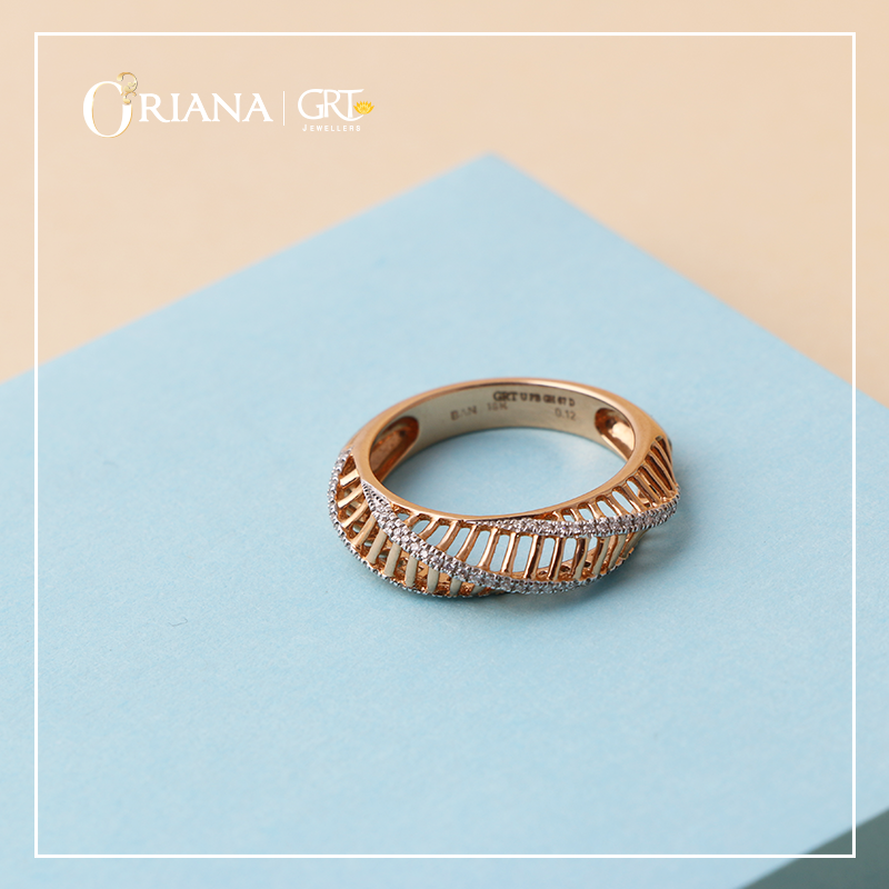 Ribbed Beauty Diamond Ring Latest Gold Ring Designs Gold Rings Jewelry Gold Ring Designs