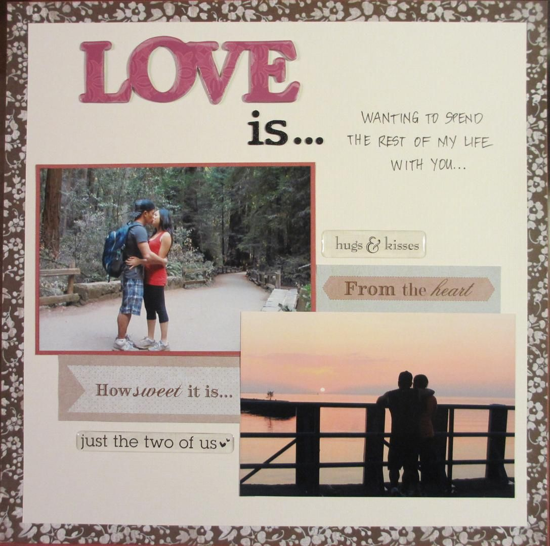 Scrapbook Page For Wedding Proposal  Layout Scrapbook Proposal