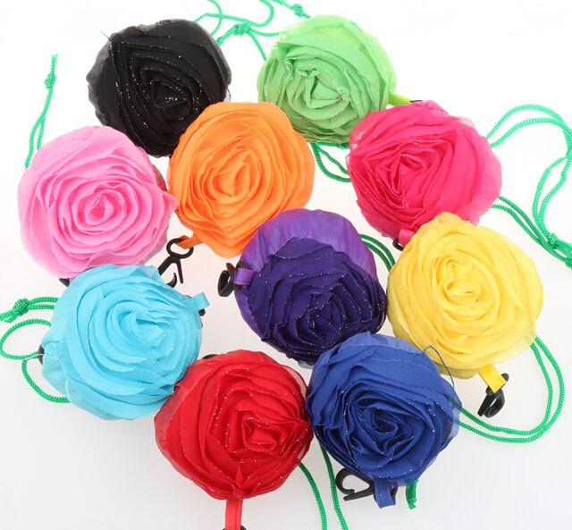 마이크 10 색 장미 접이식 에코 재사용 환경 쇼핑 가방 39.5 센치메터 x 38 센치메터 GB019