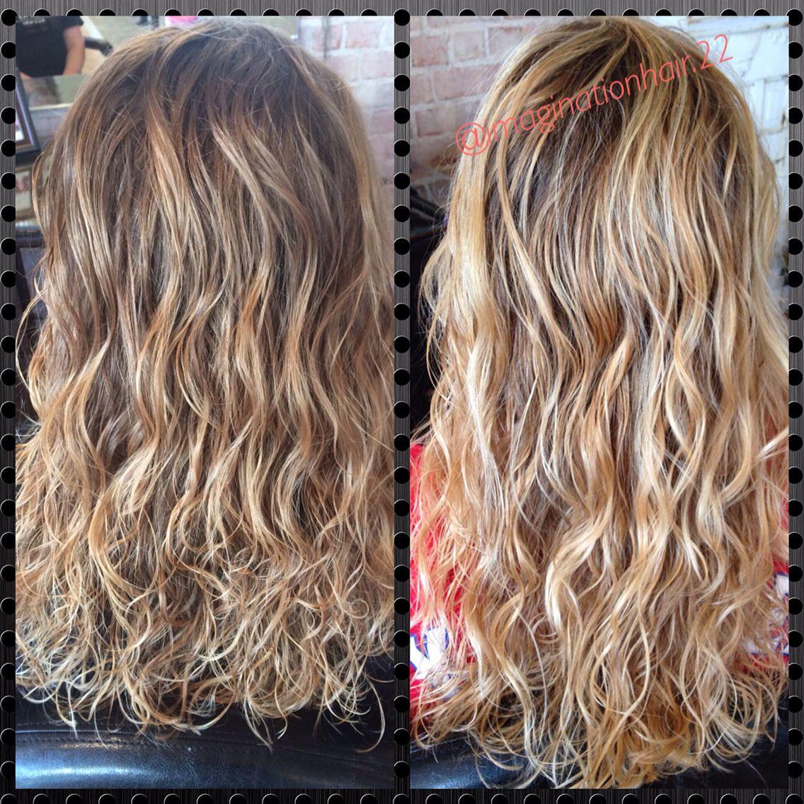 Blonde Balayage On Naturally Curly Hair Blonde Balayage Balayage Hair Blonde Short Balayage Hair Honey