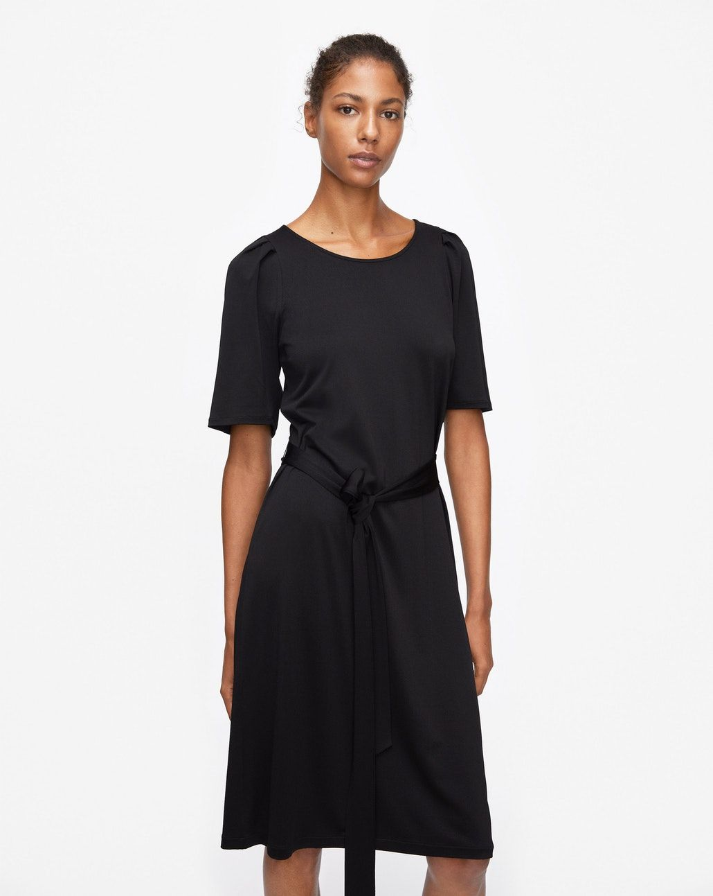 c88f19bc4 Tie Waist Pleat Dress Black - New Arrivals - Woman - Filippa K ...