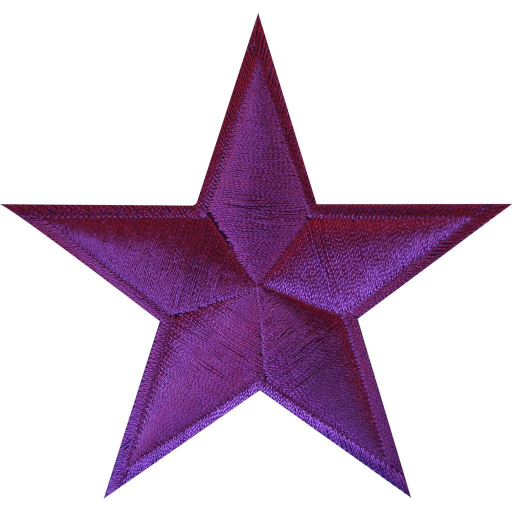 Purple Lavender Embroidered Star Patch Badge Iron Sew On Jacket Jeans Shirt Bag