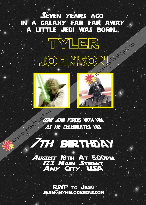 Birthday Invitation: Star Wars By @myhellodesigns $15.00, Via Etsy.