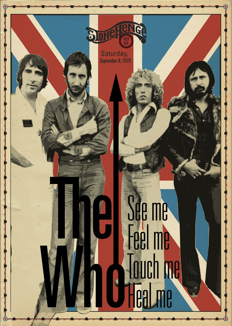 Baba O Riley Is A Song Written By Pete Townshend For The English Rock Band The Who The Title Of The Song Vintage Music Art Concert Posters Rock Band Posters