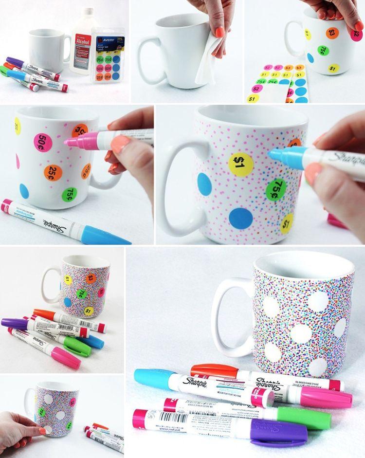 DIY Sharpie Mug   Polka Dot Mug