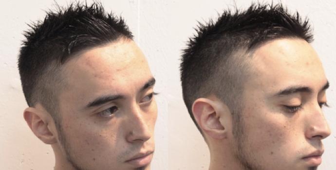 メンズ髪型 今はボウズの黒髪ツーブロックがカッコいい Hairstyle Magazine ヘアスタイルマガジン ボウズ メンズ ヘアスタイル メンズヘアスタイルフェード