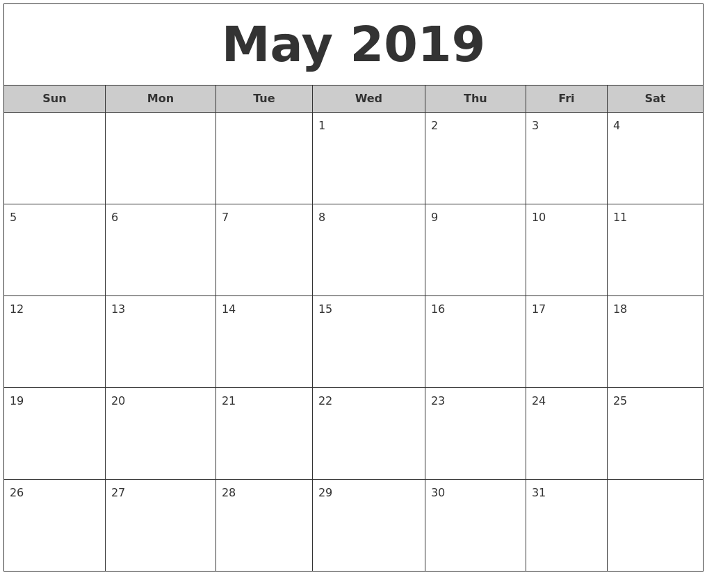 picture regarding Printable Calendars May identify Totally free Printable Calendar Could 2019 #may perhaps2019calendar #could possibly2019