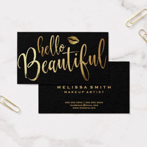 Makeup Artist Business Card Bizcardstudio Com Makeup Artist Business Cards Artist Business Cards Beauty Business Cards