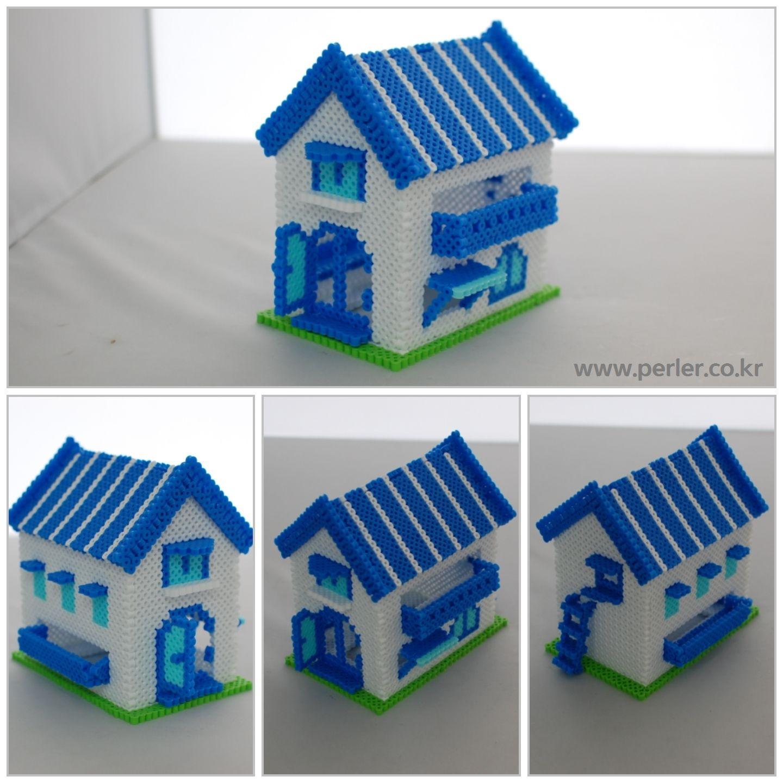 3D House Perler Beads