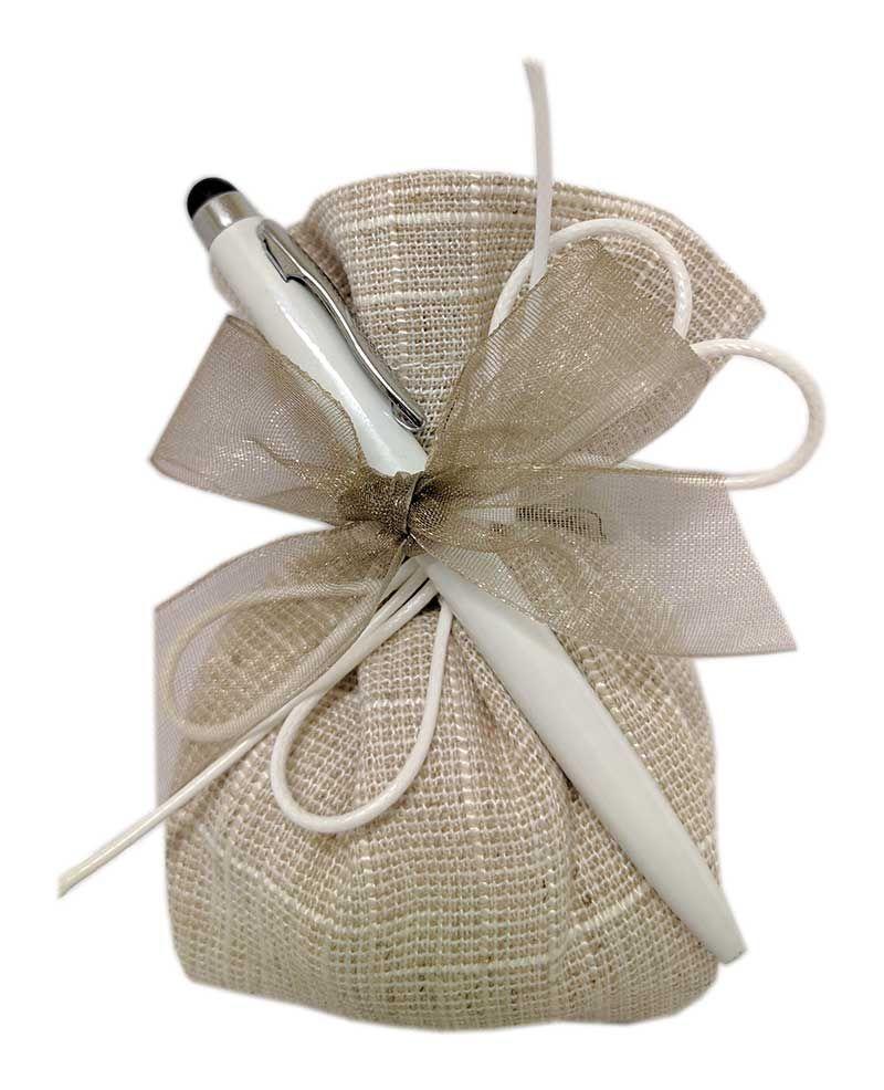 Bellissima Ed Economica Penna Touch Di Colore Bianco Ideale Per Confezionare Una Preziosa Bomboniera Acqu Bomboniera Decorazioni Luminose Natalizie Bomboniere