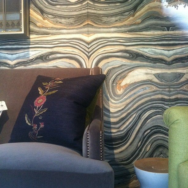 """""""Swirls"""" wallpaper by Robert Crowder is such a showstopper. Visit the Arnitex showroom to see for yourself."""