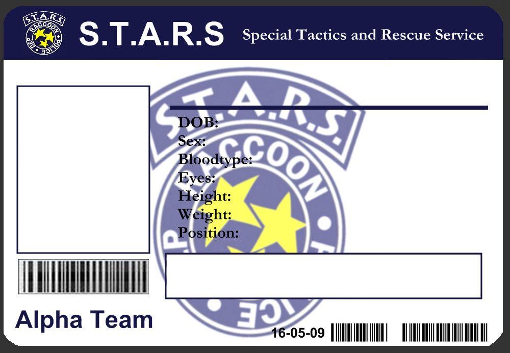 STARS Id Card Template By JJJoker On Deviantart  Cosplay