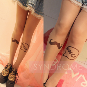 OMG Mustache Tights