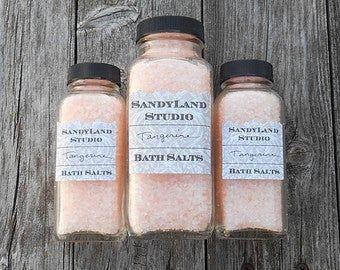 Bath Salts- European Spa Salt and Dead Sea Bath Salts- Choose your Scent - Spa - Gift- Party Favors-Huge Scent List- Pastel