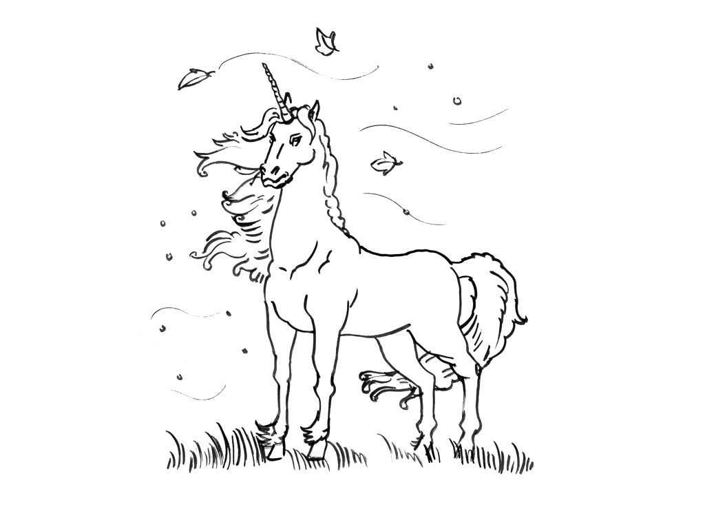 Coloriage 16 Dessin Licorne Coloriage Animaux In 2018 Pinterest
