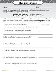 worksheet. Fragments And Run Ons Worksheet. Grass Fedjp Worksheet ...
