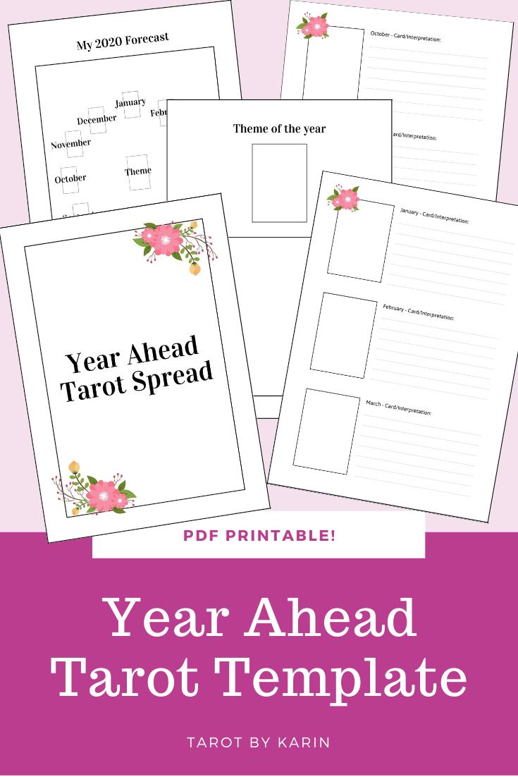 Pin On Tarot Workbooks Printable Tarot Journals