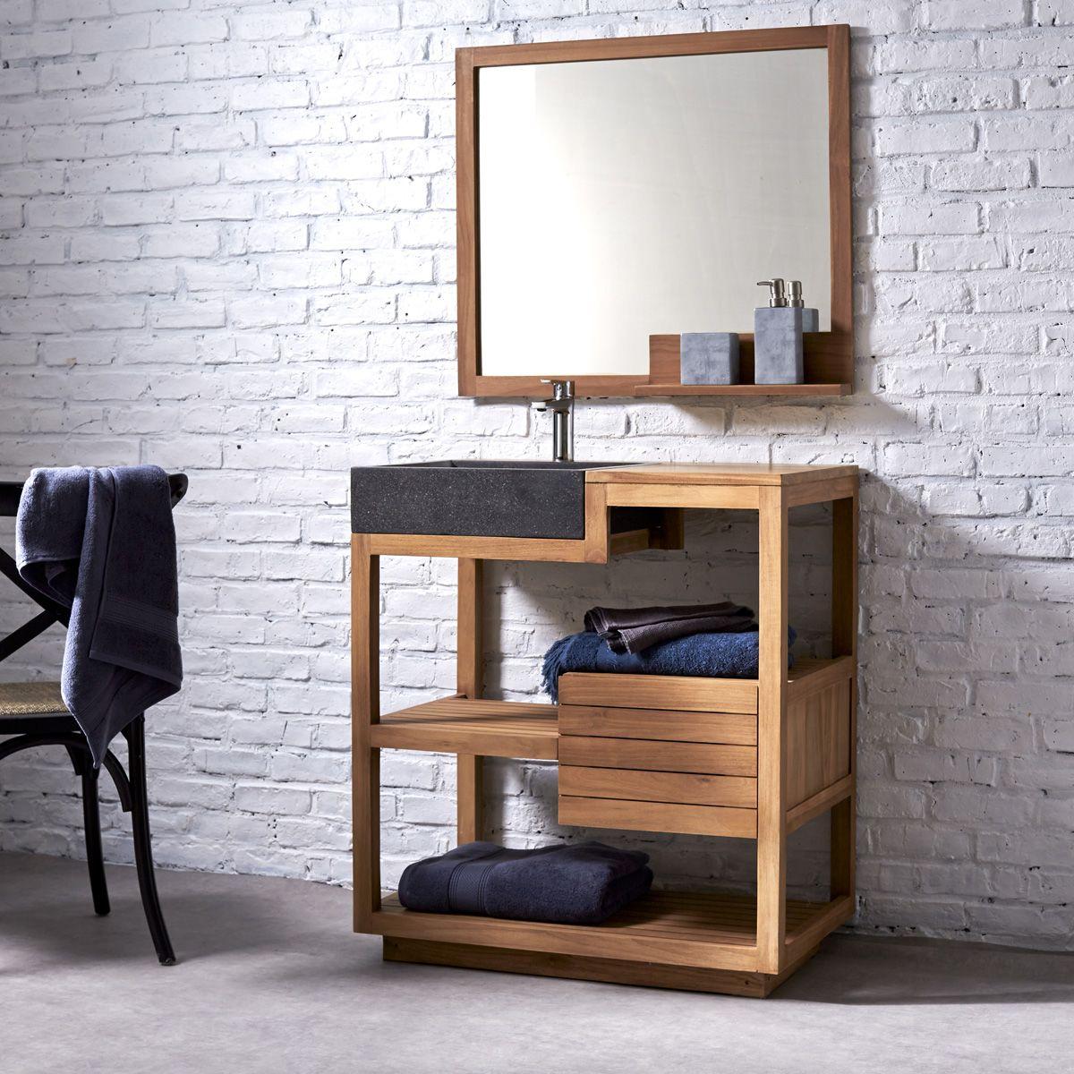 Badezimmermöbel teakholz  Badmöbel mit Waschbecken aus Teak 80 Pure | Pinterest | Waschbecken ...