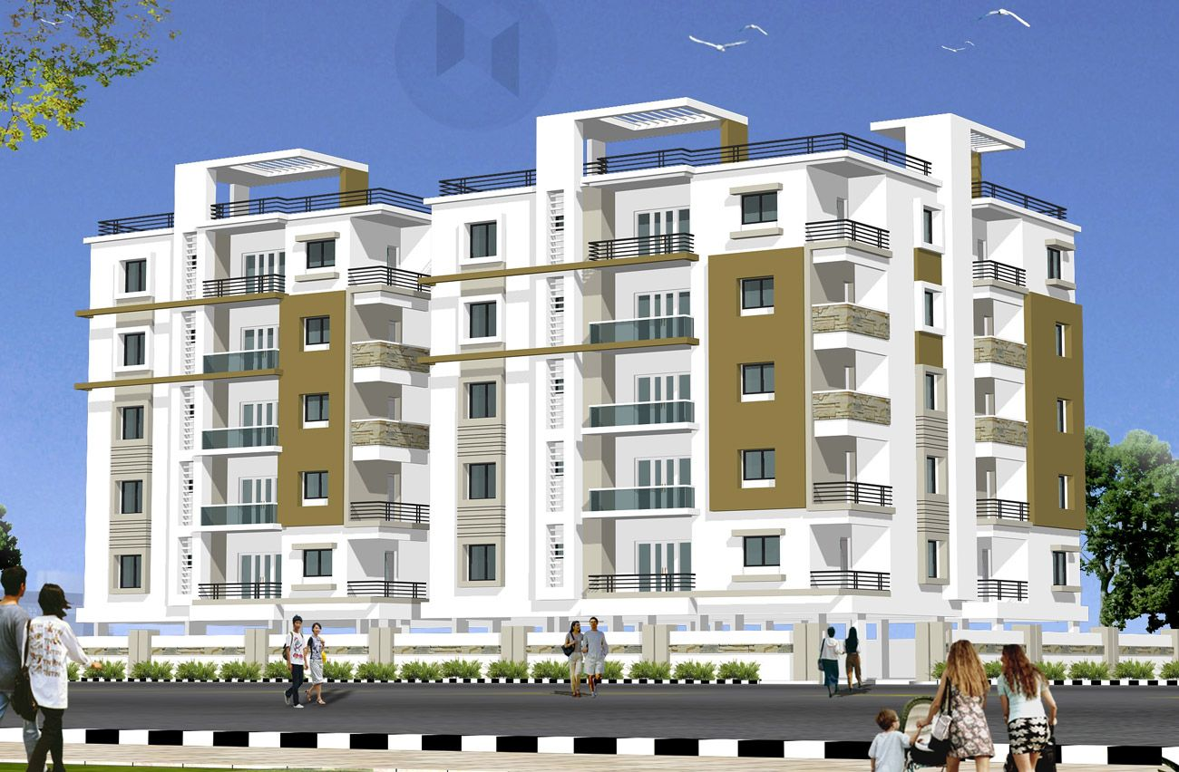 Indian residential building designs woods anuhar homes for Apartment building design ideas