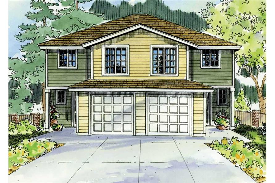 Multi Unit Home With 4 Bdrms 1491 Sq Ft Multi Family Plan 108 1047 In 2020 Courtyard House Plans Modern Contemporary House Plans House Plans