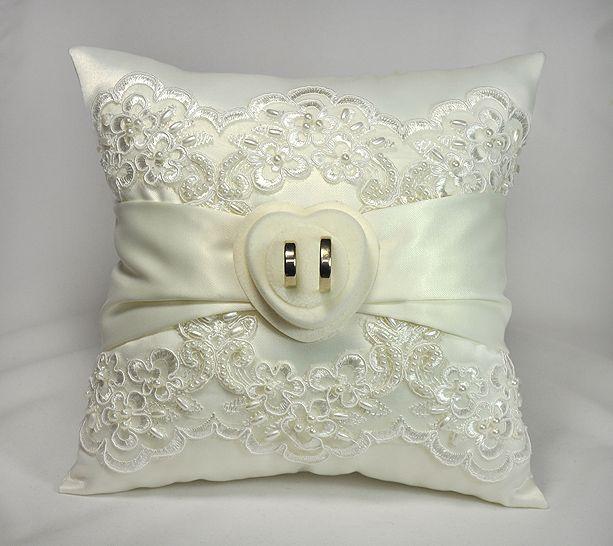 Poduszka Do Obraczek Z Koronka Na Obraczki Haft 5049941985 Oficjalne Archiwum Allegro Pillows Throw Pillows Wedding Day
