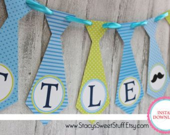 Little Man Name banner OR It's A Boy banner neck by SweetBugABoo