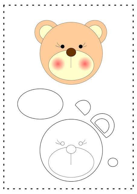 Molde de chaveiro ursinho em feltro Faça lindos chaveiros de ursinhos com  esse molde de feltro fácil Baixar moldes de ursinhos para. f3a87fda8e