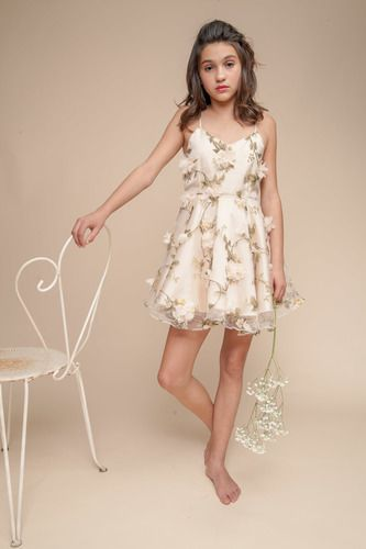 Embroidered Flower Party Dress with Deep V-Back | Shop Udtfashion ...