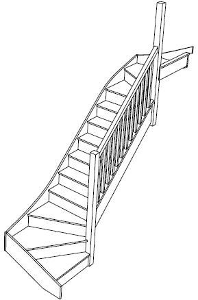 Best 3D View Of A Right Handed Double Winder Staircase Fix Sice 400 x 300