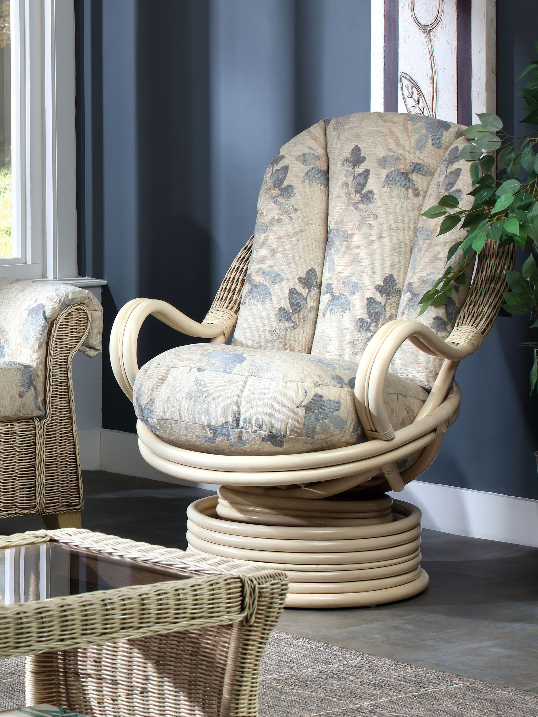 Fantastic Rattan Rocking Chair Natural Wash Natural Rattan Chair Blue Spiritservingveterans Wood Chair Design Ideas Spiritservingveteransorg