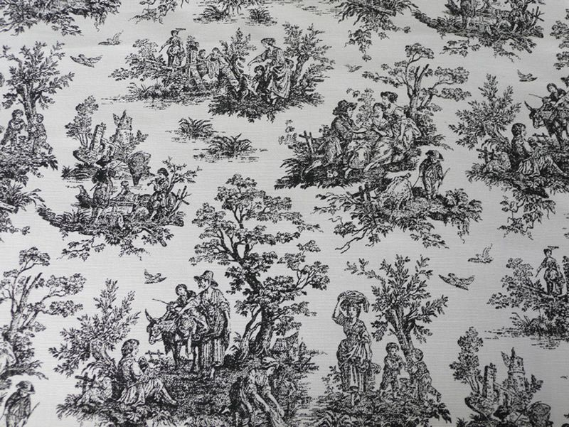 Black Toile Decorating: Antique Toile De Jouy Fabric - Google Search