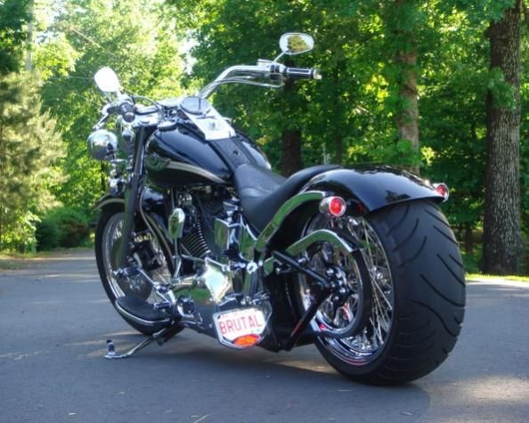 fatboy custom wheels wide tire kit for fatboy harley davidson rh pinterest com