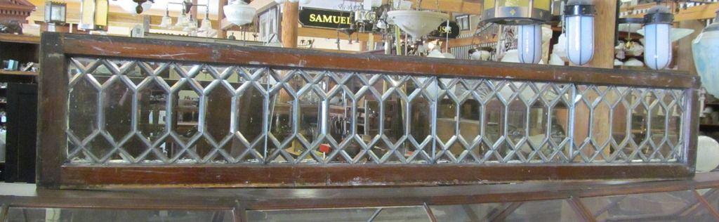 "Diamond Pane Beveled Glass Window 2 Available 16 1/4"" x 93"" 16 1/4"" x 81 1/2""  WN-0005"