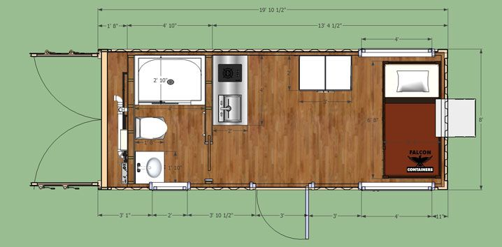 40 foot container homes hunting cabin cabin and ships for Cabin floor plans canada