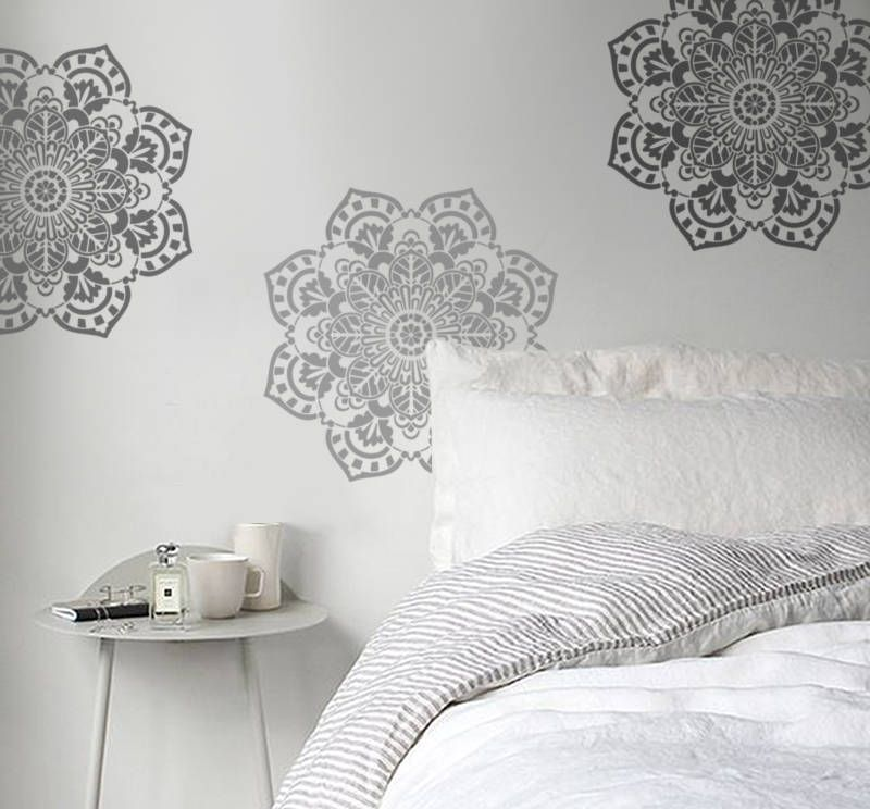 Mandala Stencil For Walls Comes In 3 Sizes 12 17 21