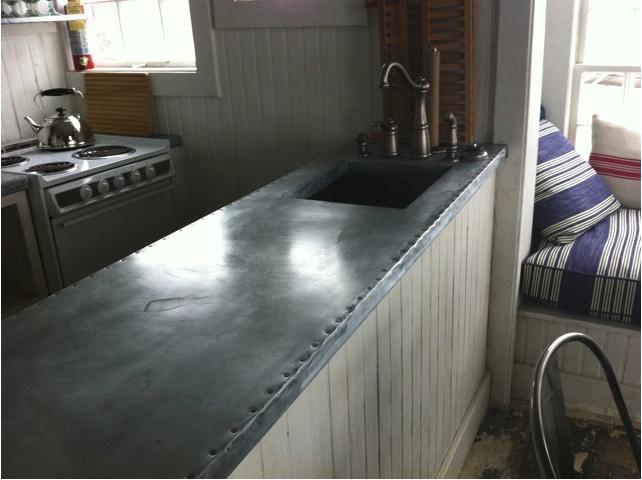 Hammered Zinc Countertop
