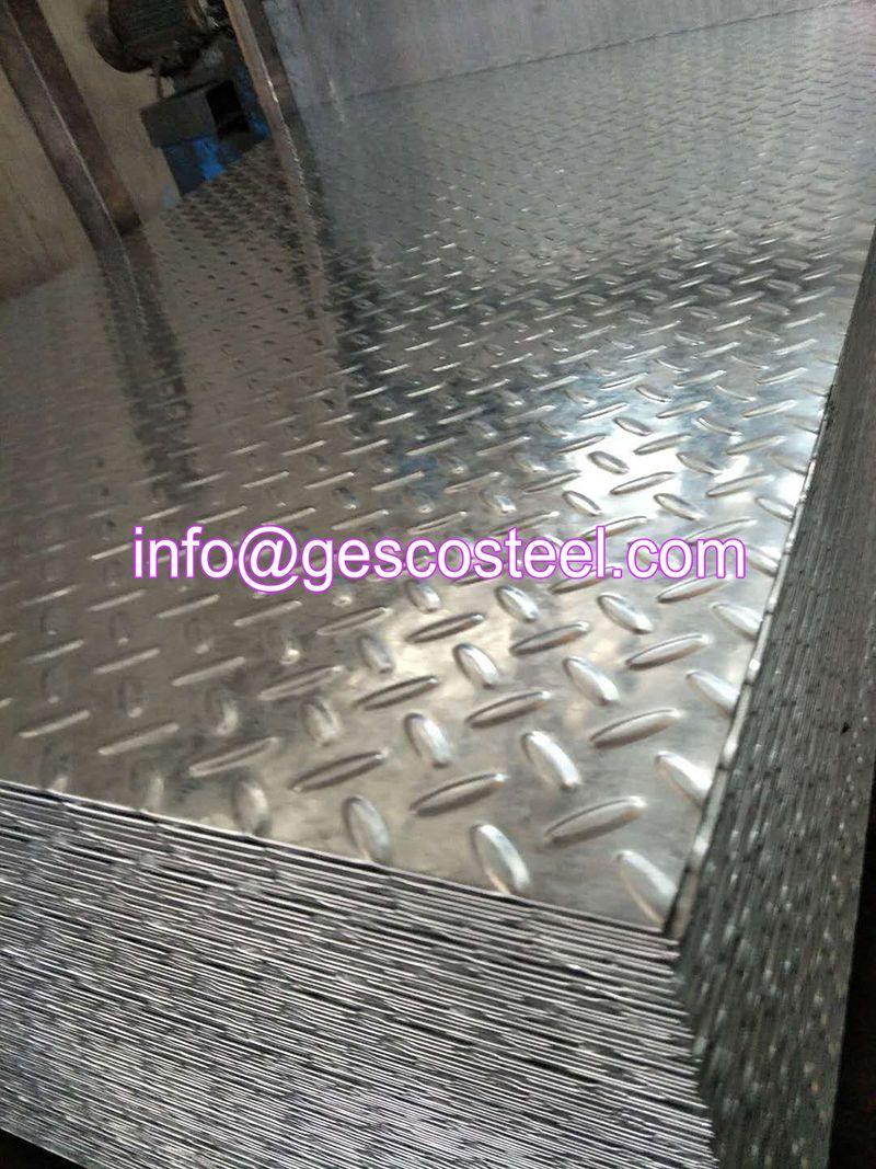 Galvanized Checkered Steel Plate Galvanized Steel Galvanized Steel Sheet Galvanized