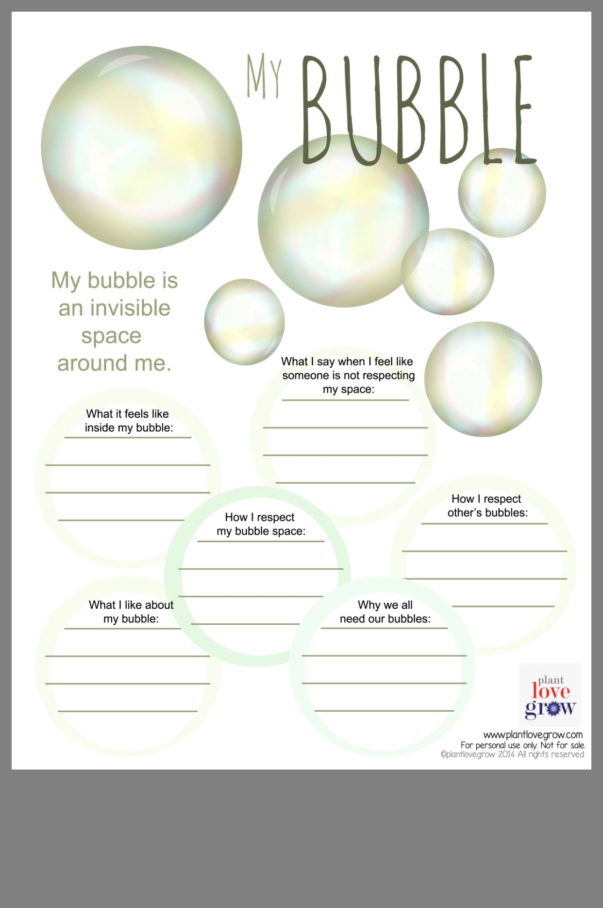 My Bubble Template From Plantlovegrow