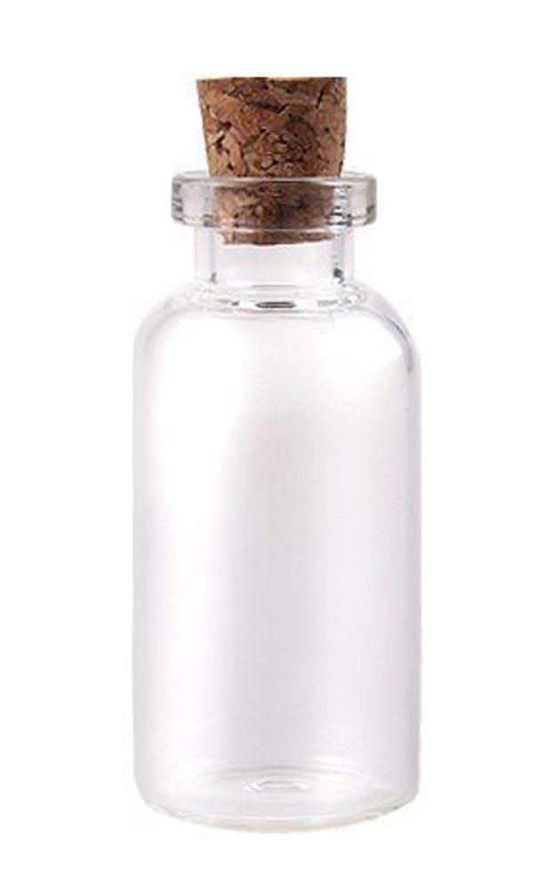 "Message Bottles Spice Storage Glass Vials Cork Top 50mm 2"" 10ml 10pc: Jewelry Making Supplies: Amazon.com: Industrial & Scientific"
