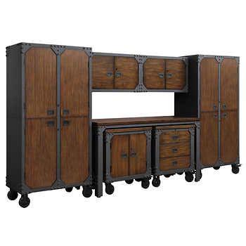 Whalen 7 piece Workbench and Cabinet Set