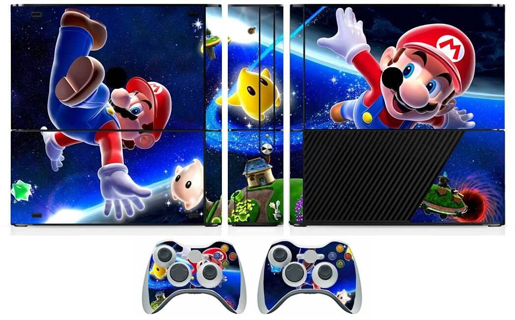 Super Mario Bros Xbox 360 Vinyl Cover Super Mario Bros Xbox 360