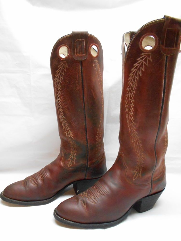 Mens 10 D Olathe Boots Brown Mule Leather 17