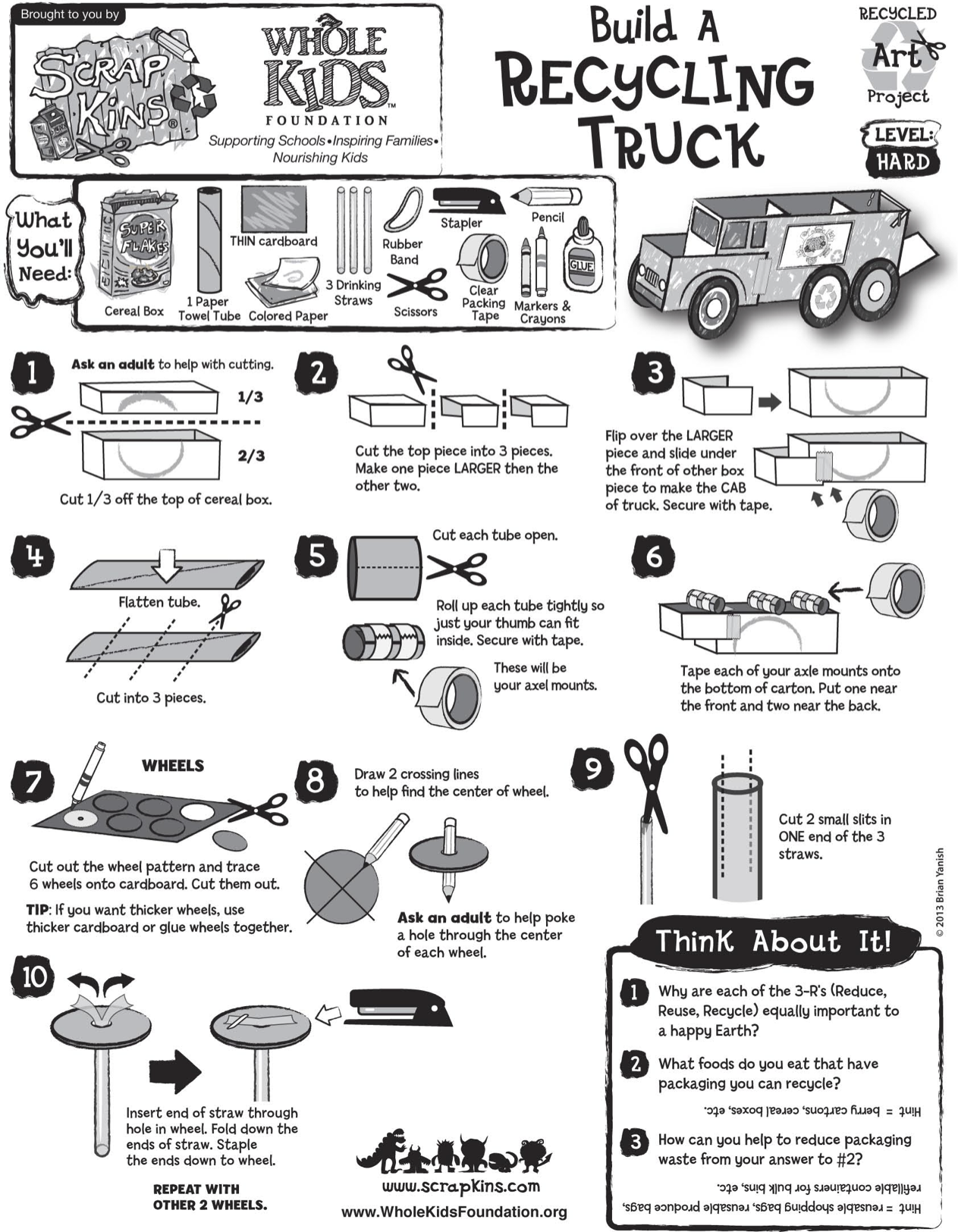 Build A Recycling Truck With Recycled Materials Scrapkins Recycle Activities Kids